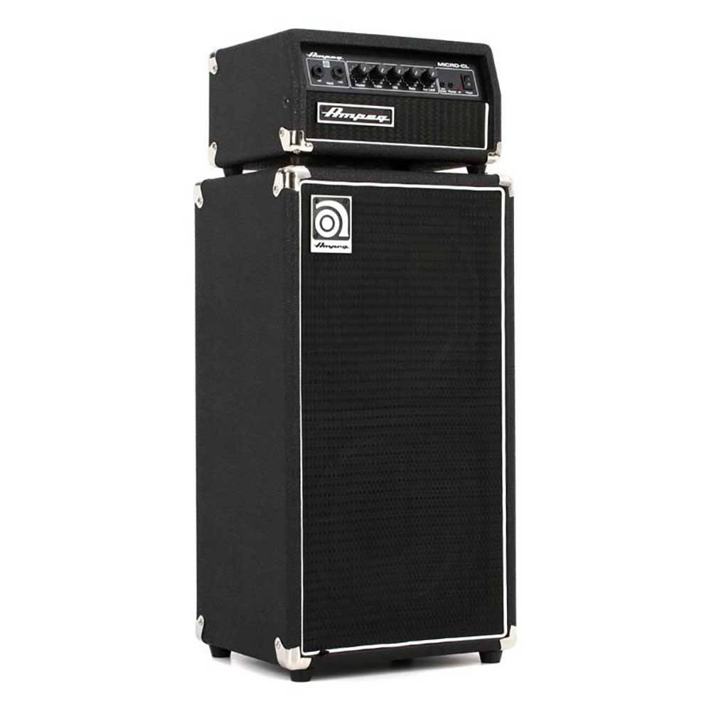 """AMPEG Micro CL Stack for bass, 100W, 8Ohm, FX loop, line out + cabinet 100W,2x10"""" გიტარის გამაძლიერებელი"""