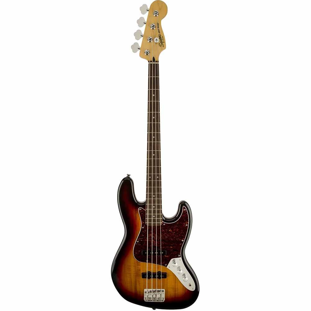 FENDER SQUIER Vintage Modified Jazz Bass Fretless Ebonol Fingerboard 3-Color Sunburst  ბას გიტარა