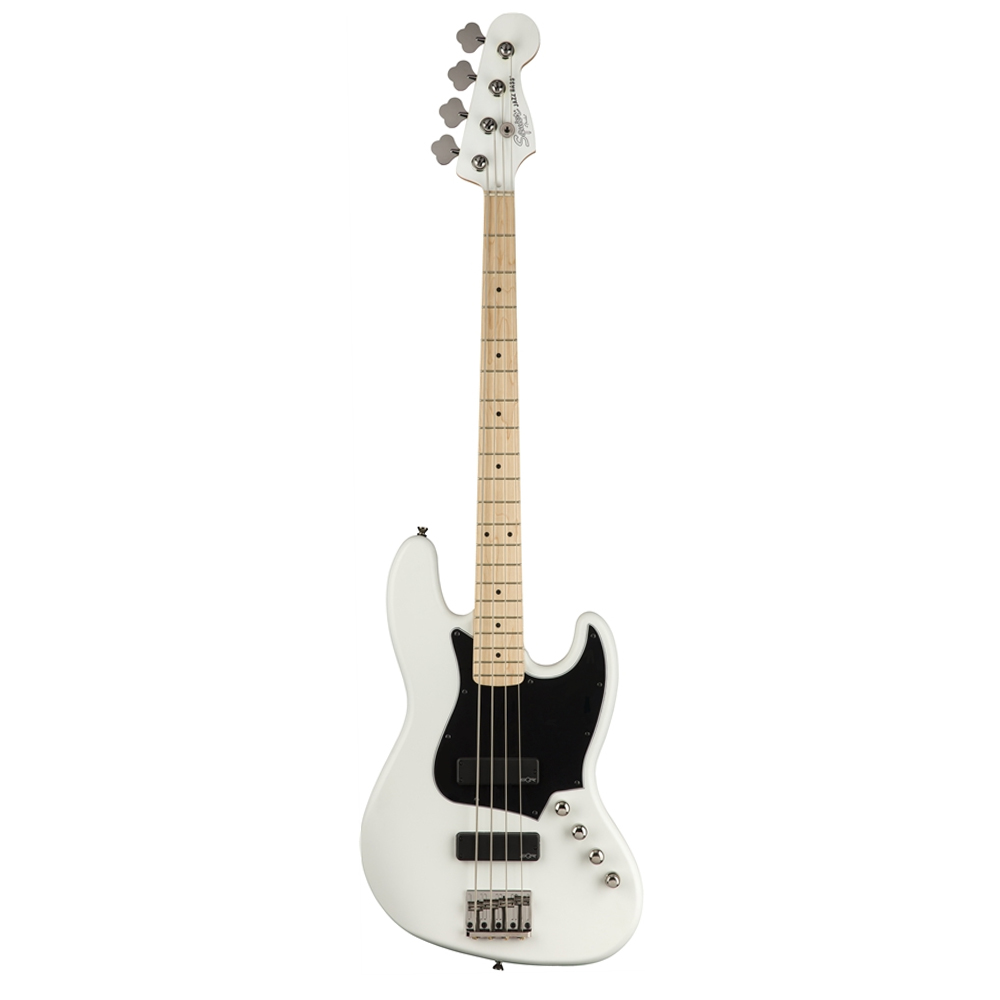 FENDER Squier Contemporary Active Jazz Bass® HH, Maple Fingerboard, Flat White ელ.გიტარა