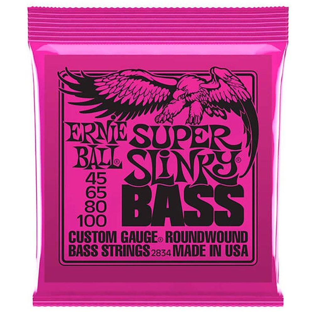 Ernie Ball Super Slinky Nickel Wound Electric Bass Strings ელ. ბას გიტარის სიმები