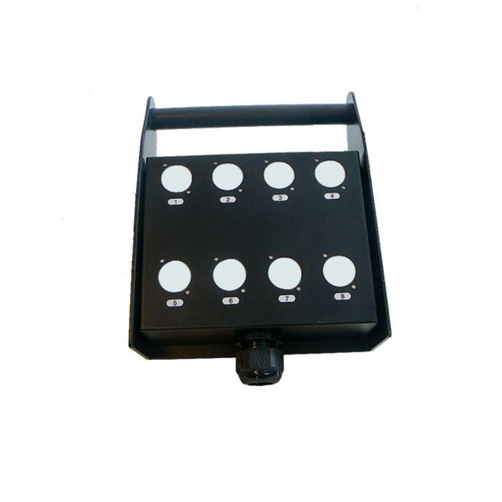 Schulz STB 8 P Stage box with 8 drill holes and clamp of plastic სცენის ბოქსი/მულტიკორი