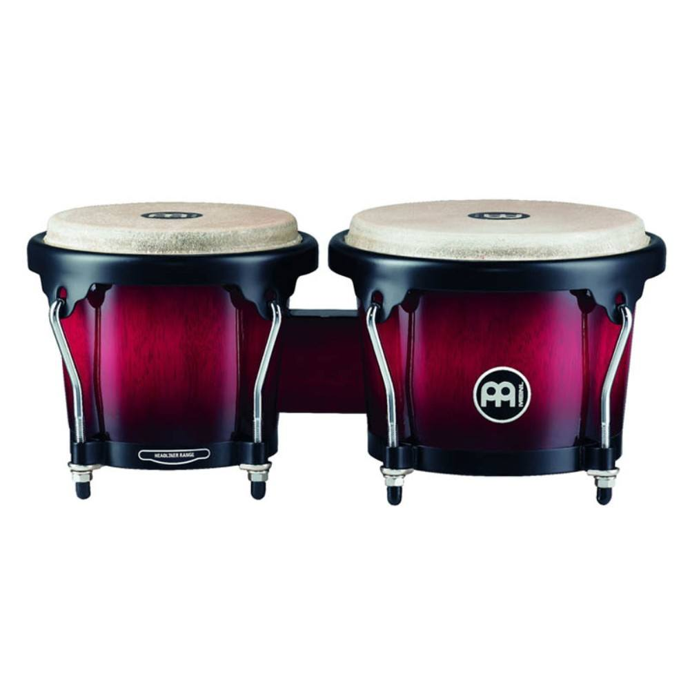 "Meinl HB100WRB 6 3/4"" + 8"" Wood Bongo, Wine Red Burst ბონგო"