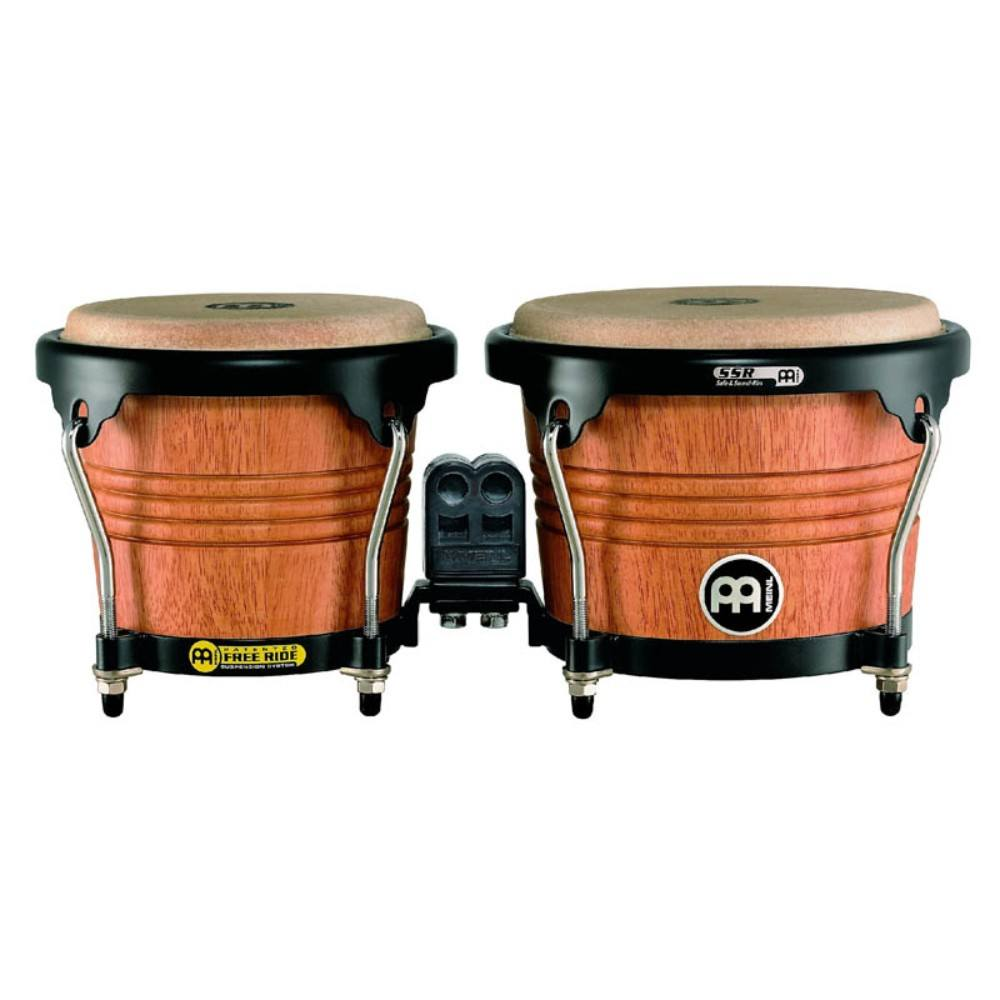 "Meinl FWB190SNT-M 6 3/4"" + 8"" Bongo Wood Super Natural Mat, Free, Ride  Blackhardware, SSR-Rims ბონგო"