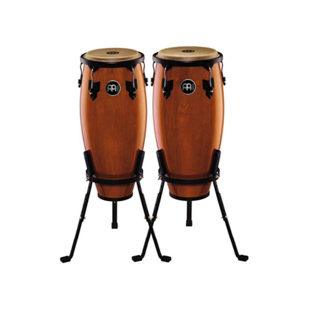 MEINL HC555MA 10-Inch and 11-Inch Conga Set With Basket Stands, Maple კონგას კომპლექტი