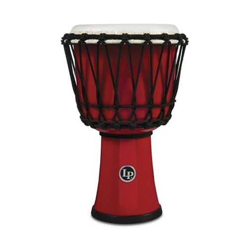 Latin Percussion Djembe World 7-inch Rope Tuned Circle Red