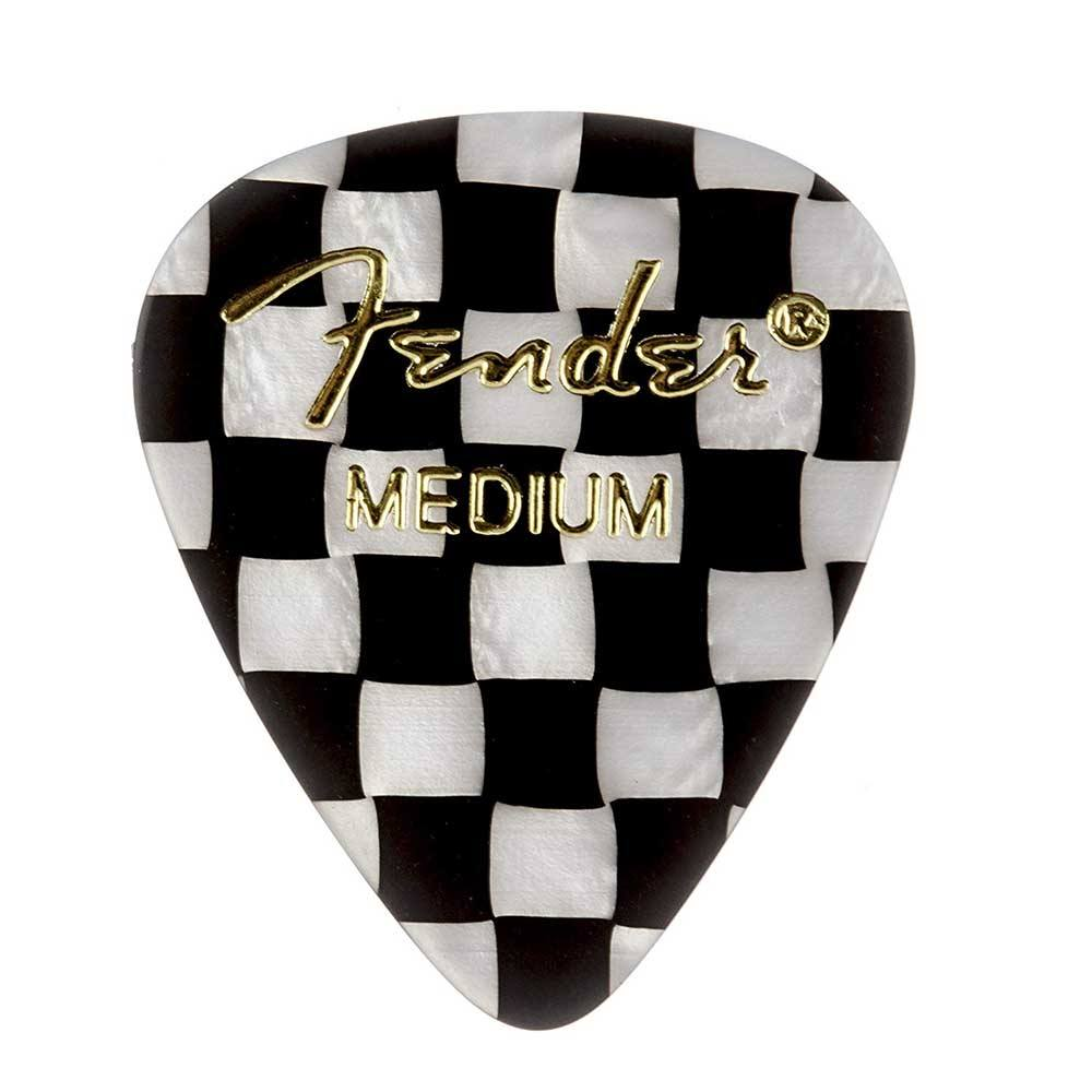 Fender 351 Shape Graphic Picks  for electric guitar, acoustic guitar, mandolin, and bass მედიატორი