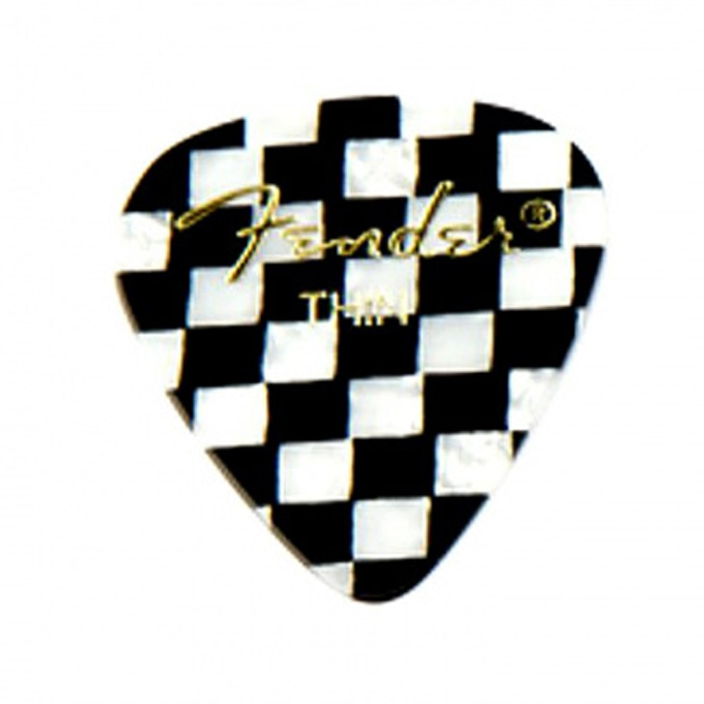 Fender 351 Shape Premium Picks, Thin, Checker მედიატორი