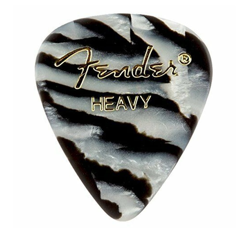 Fender 351 Shape Premium Picks, Heavy, Zebra მედიატორი