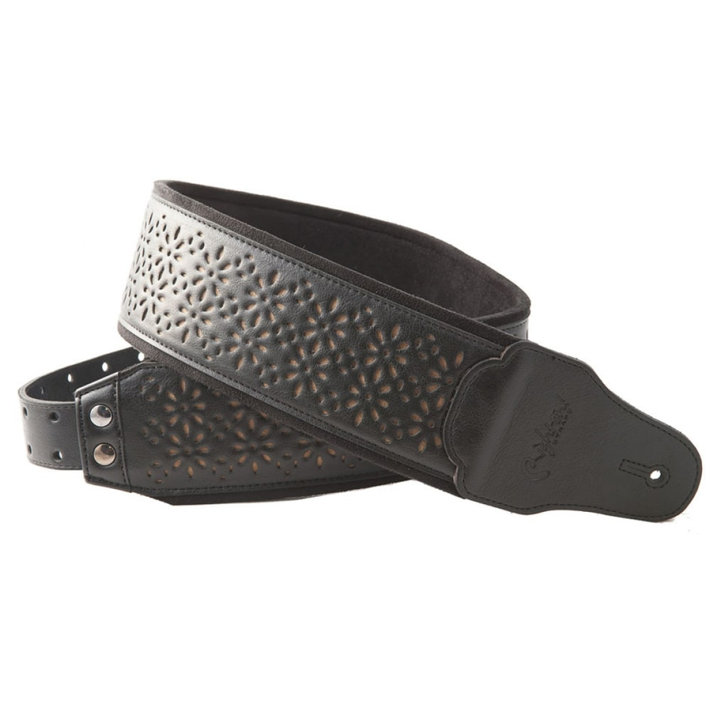 "RightOn! Straps ""Bassman"" Alhambra Black guitar strap (black) გიტარის ქამარი"