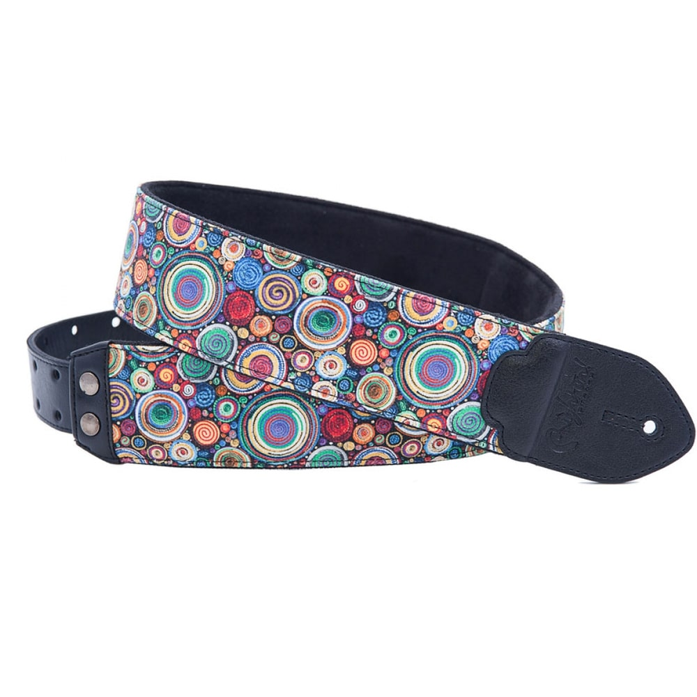 "RightOn! Straps ""Funky"" Bubbles teal guitar strap გიტარის ქამარი"