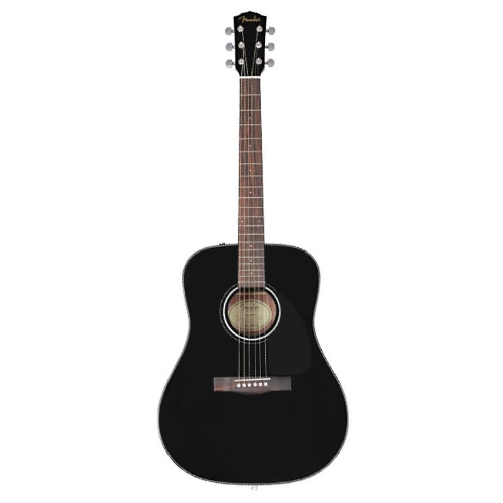 FENDER CD-60 BK Ac guitar, top - spruce, back & sides - mahagony, neck - mahagony, black აკუსტიკური გიტარა