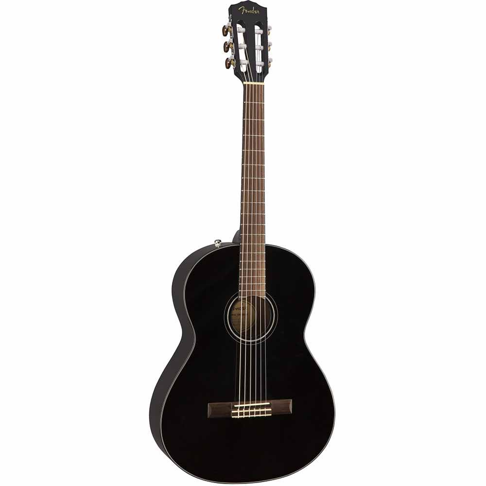Fender CN-60S Nylon, Laurel Fingerboard, Black