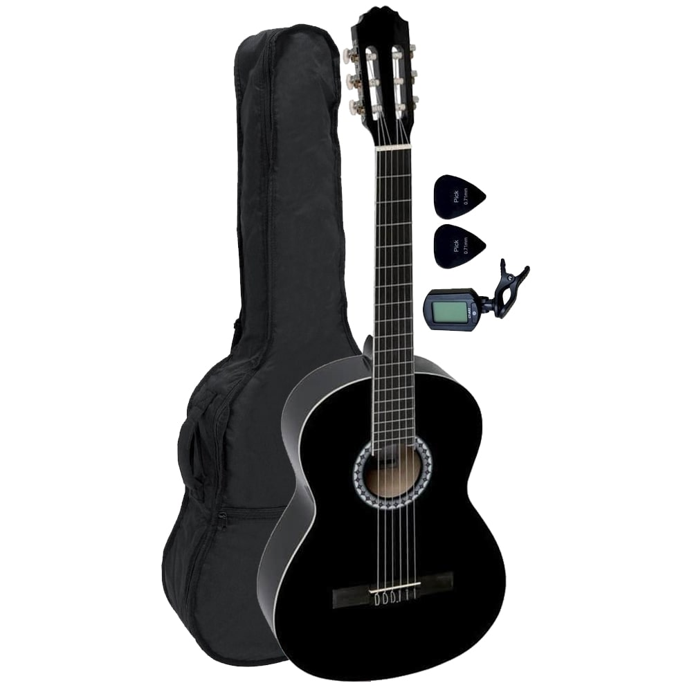 GEWApure CLASSIC GUITAR VGS BASIC SET 4/4 BLACK WITH BAG &CLIP გიტარა