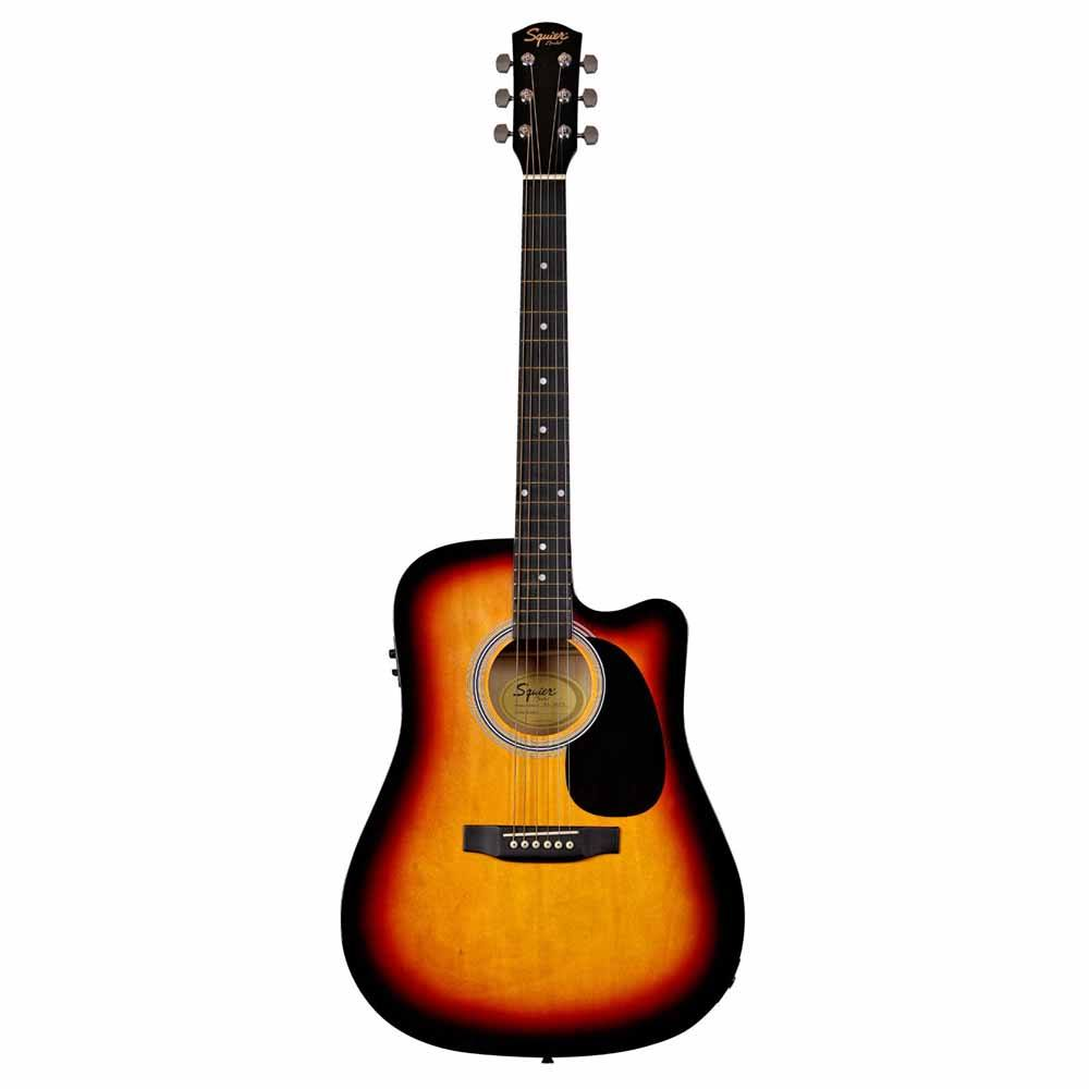 FENDER Squier SA-105CE, Dreadnought Cutaway, Stained Hardwood Fingerboard, Sunburst ელ.აკუსტიკური გიტარა