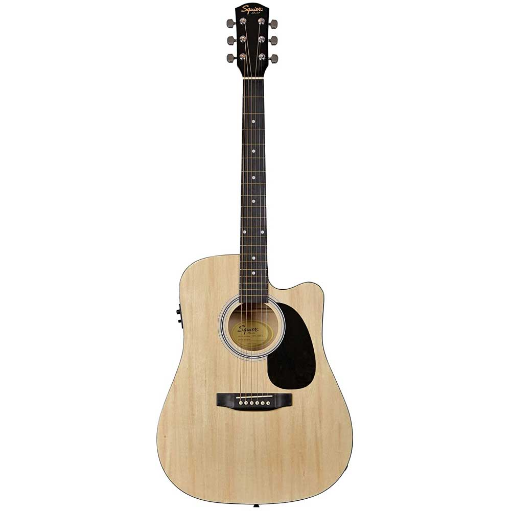 FENDER Squier SA-105CE, Dreadnought Cutaway, Stained Hardwood Fingerboard, Natural ელ.აკუსტიკური გიტარა