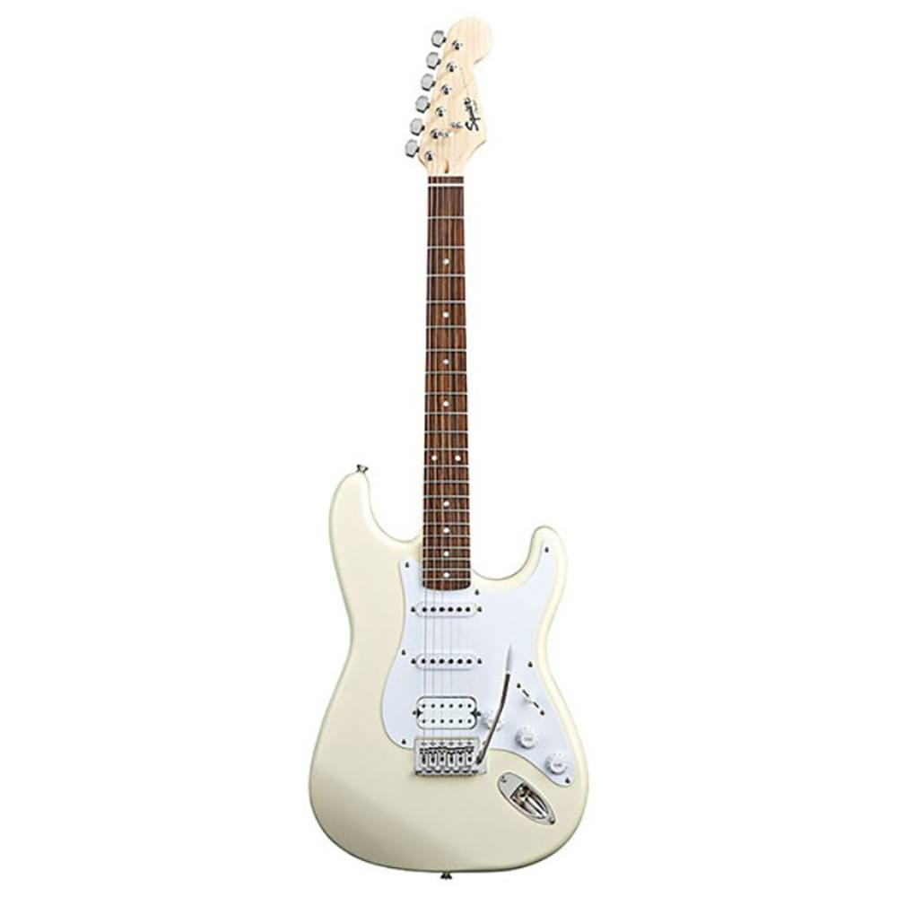 fender squier bullet stratocaster electric guitar with tremolo hss (arctic white)  ელექტრო გიტარა