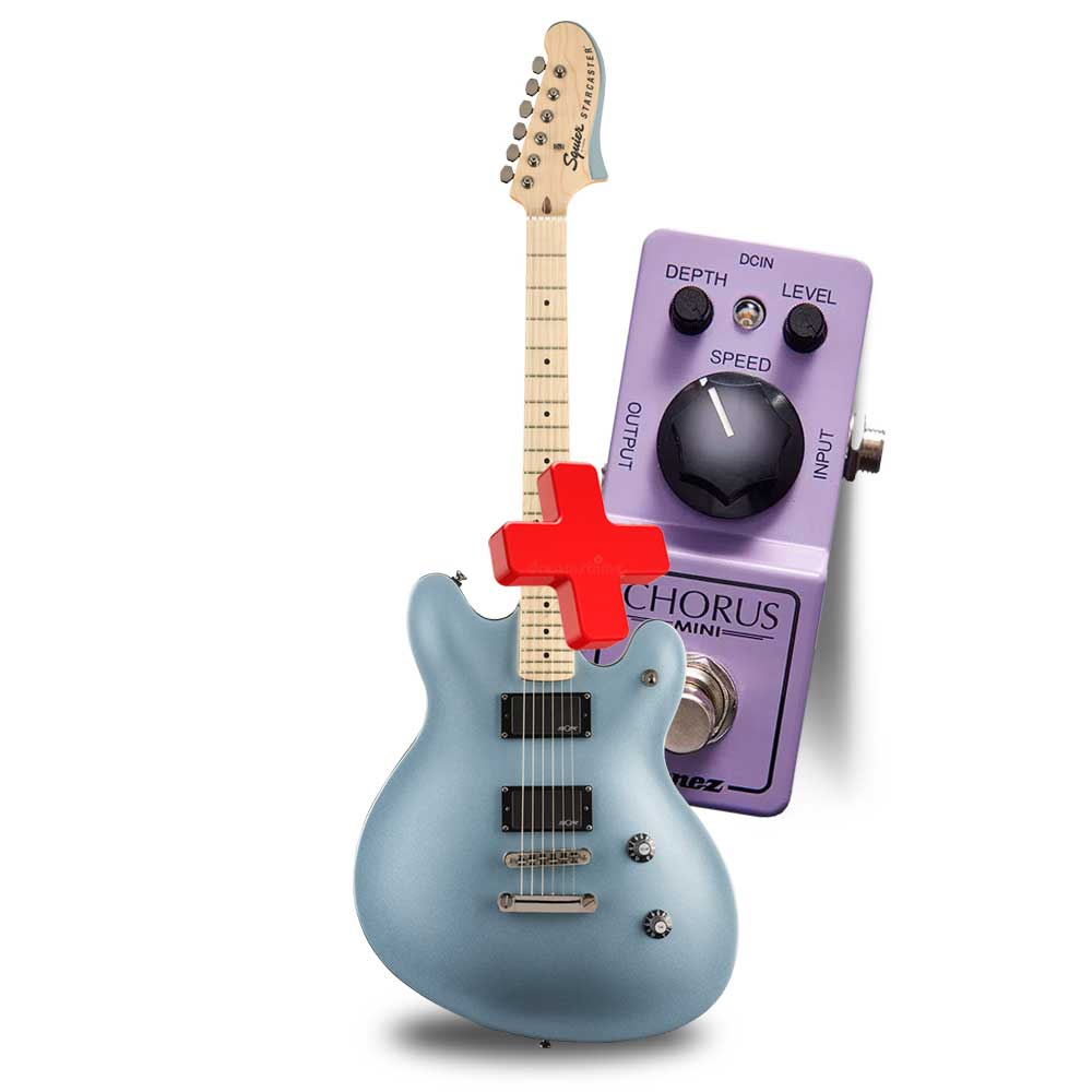 FENDER Contemporary Active Starcaster®, Maple Fingerboard, Ice Blue Metallic  ელ.გიტარა