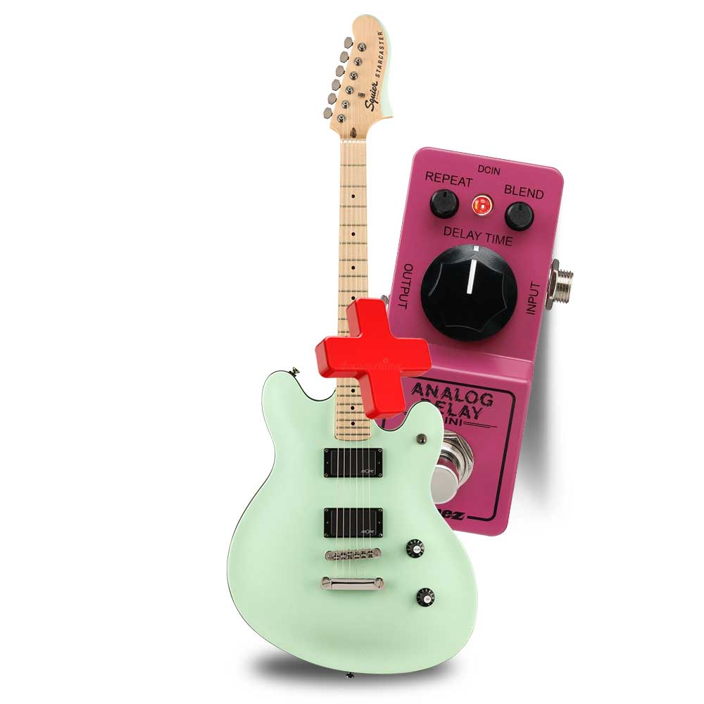 FENDER Contemporary Active Starcaster®, Maple Fingerboard, Surf Pearl ელ.გიტარა