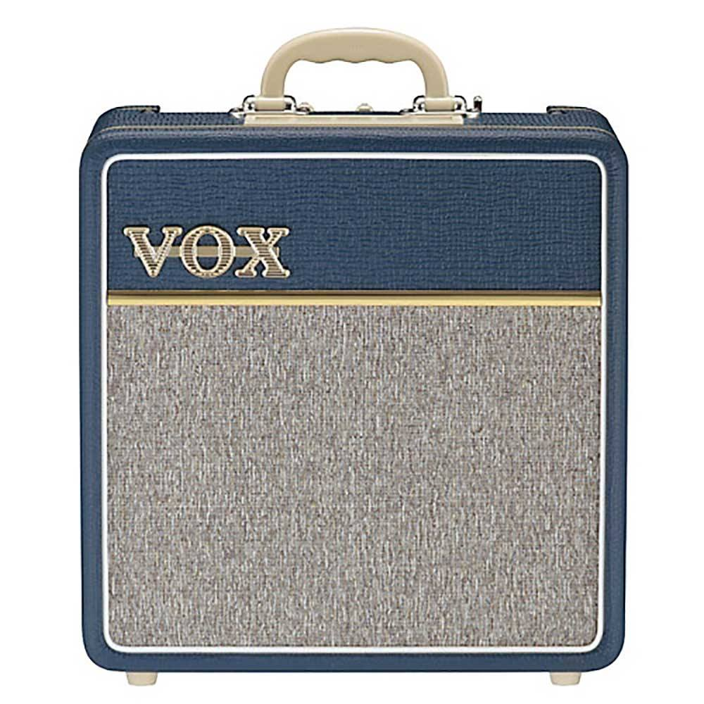 "VOX AC4C1-BL Combo for el. guitar, 4W, 1x10"" Celestion, all tube, Speaker output 16Ohm, blue ელ. გიტარის გამაძლიერებელი"