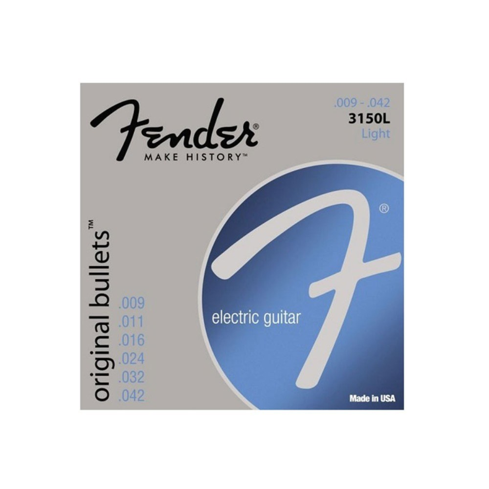 "FENDER 3150L Strings for el. guitar, 09-42, nickel, original ""bullet"" end ელ გიტარის სიმები"
