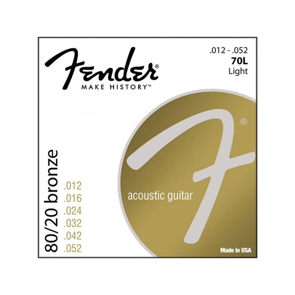 FENDER 70L Strings for ac guitar 12-52 სიმები