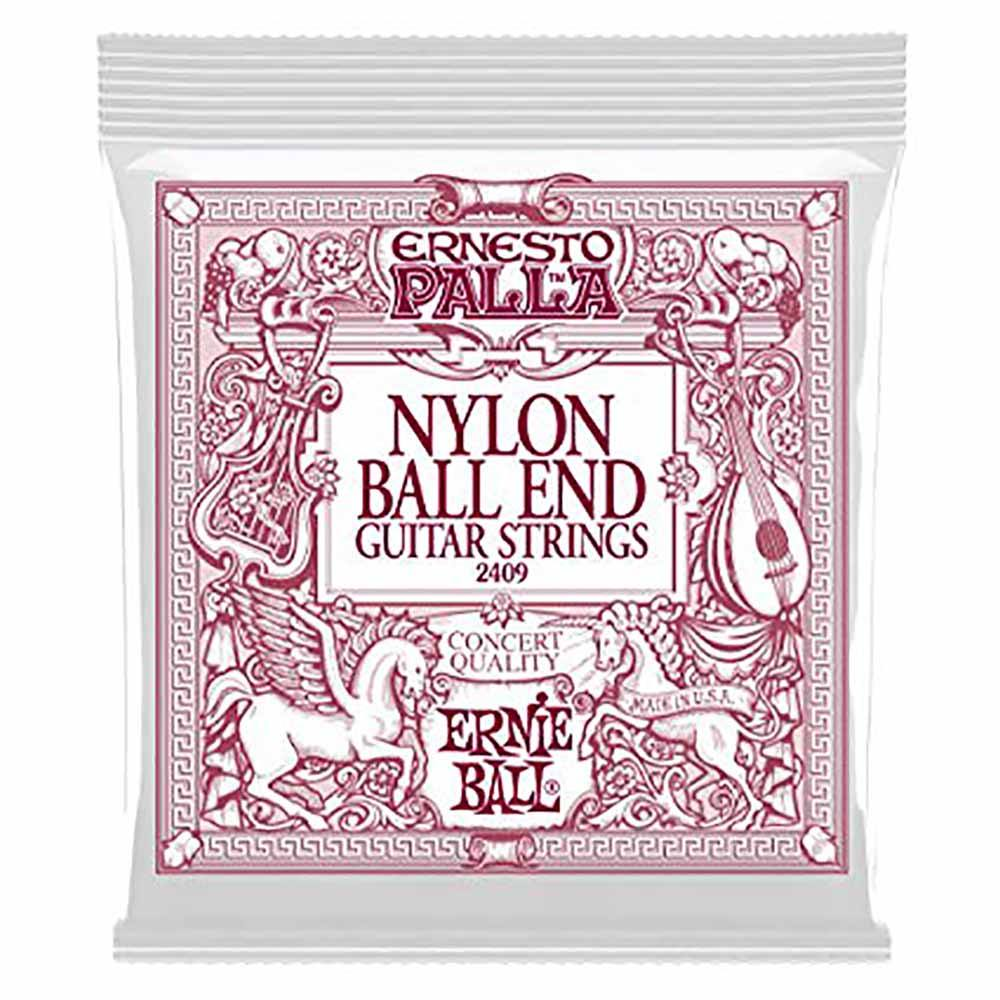 Ernie Ball Ernesto Palla Black Nylon Gold Ball End Classical Guitar Strings კლასიკური გიტარის სიმები