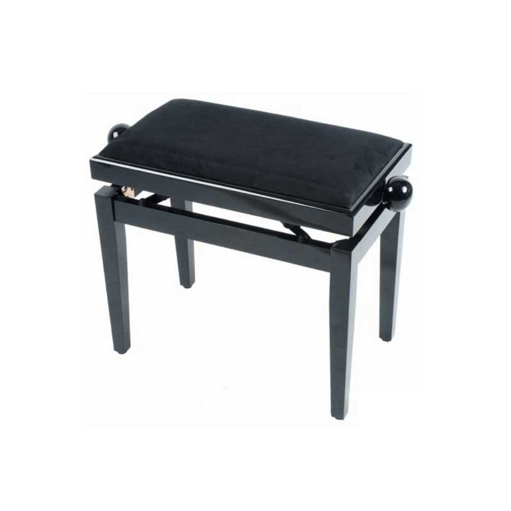 QUIKLOK PB010BK Height-adjustable wood piano bench with velvet seat Black პიანინოს სკამი