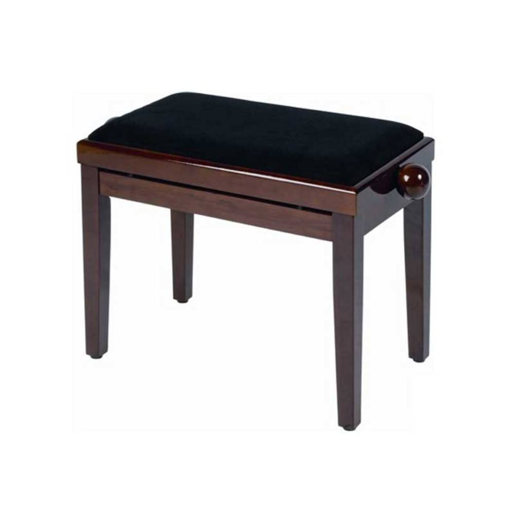 QUIKLOK PB030WN Height-adjustable wood piano bench with velvet seat Walnut პიანინოს სკამი