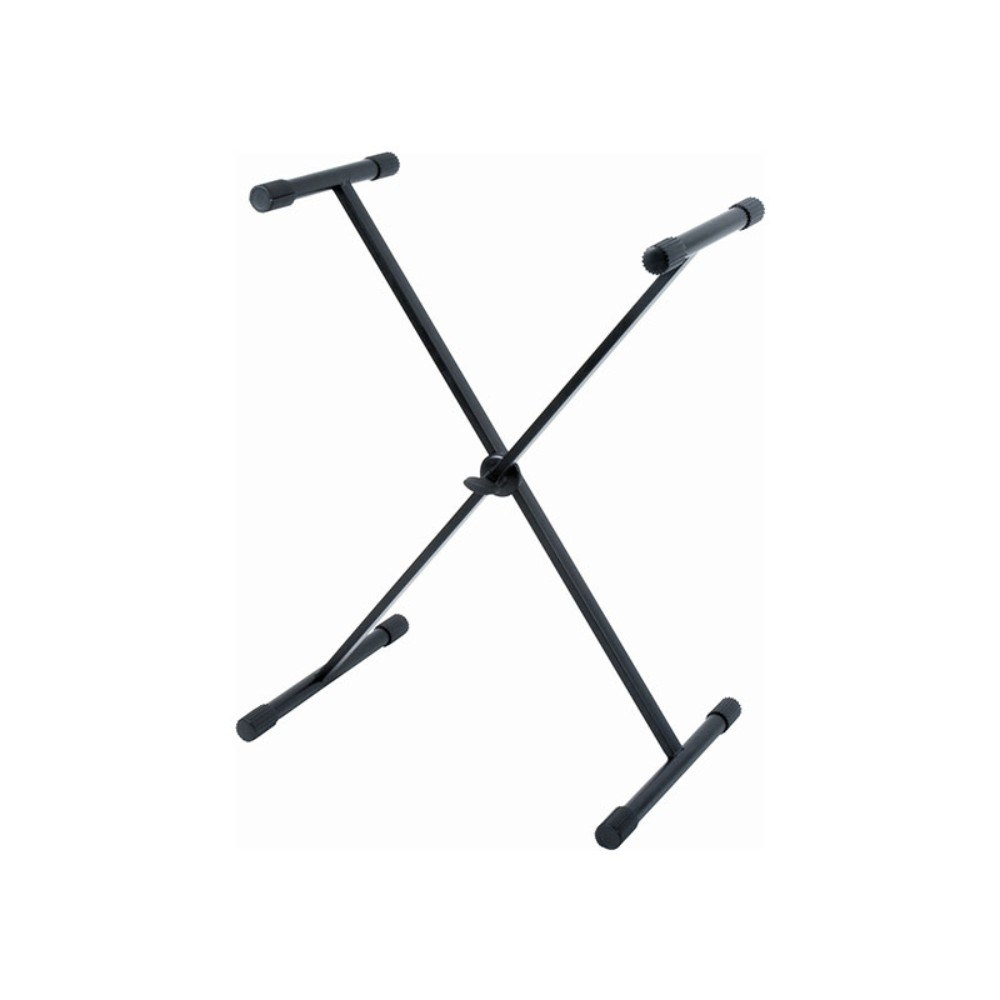 QUIKLOK T9 BK T-reX single braced single tier keyboard stand w/white single box - Black კლავიშის სადგამი