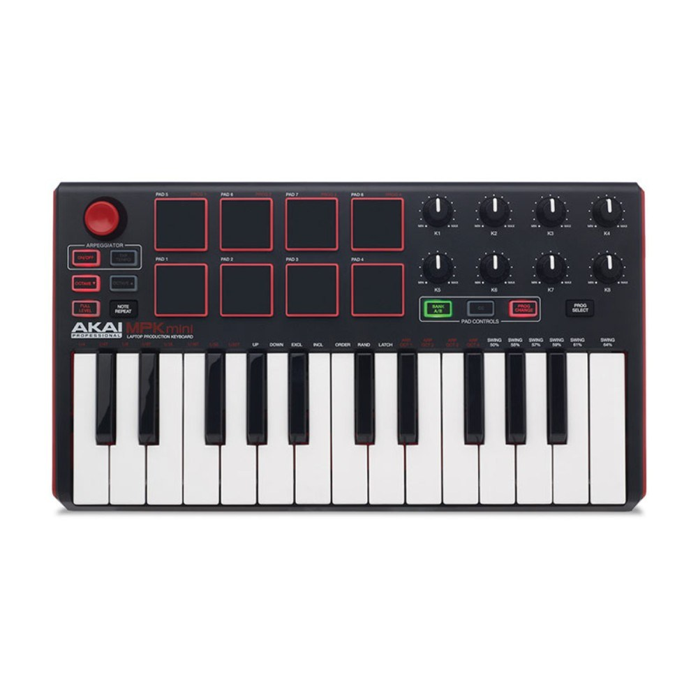 AKAI MPKMINI 2 Compact Keyboard and Pad Controller მიდი კლავიში