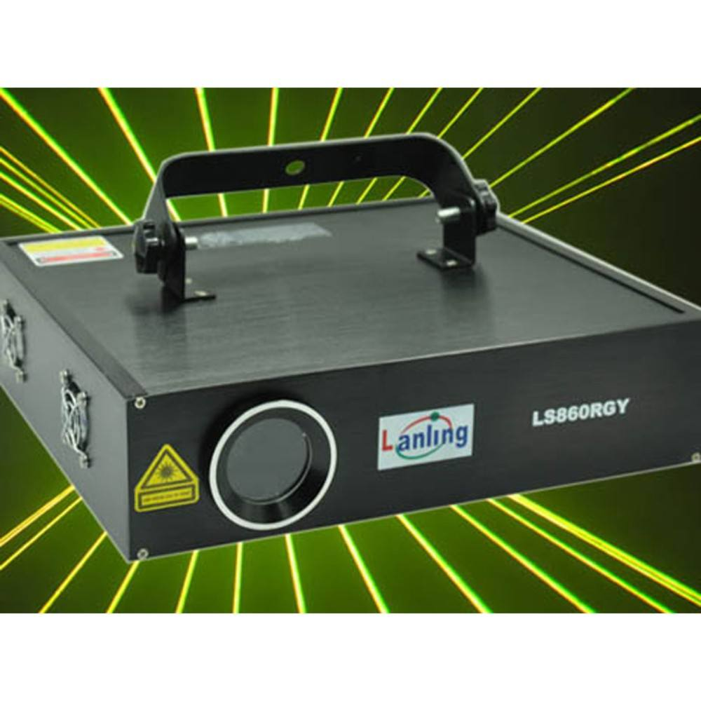 LANLING LS860RGY 450mW RGY 25kpss SD Card ILDA DMX Animation Laser Light ლაზერი