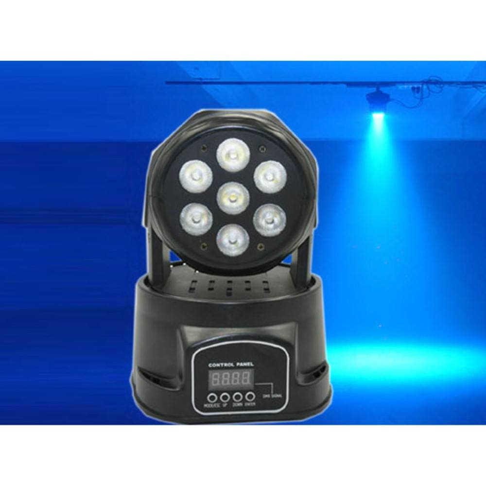 LANLING LHE5587 7x10W RGBW 4in1 Wash Moving Head LED Light მოტრიალე თავი