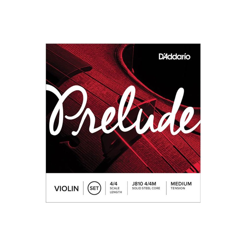 DAddario Prelude Violin String Set, 4/4 Scale, Medium Tension ვიოლინოს სიმები