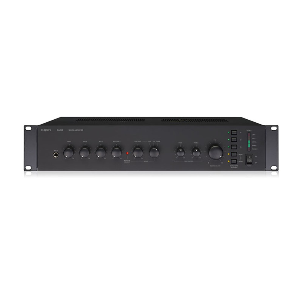Apart MA200 4-zone 100V switching mixing amplifier, 200W 100 volt