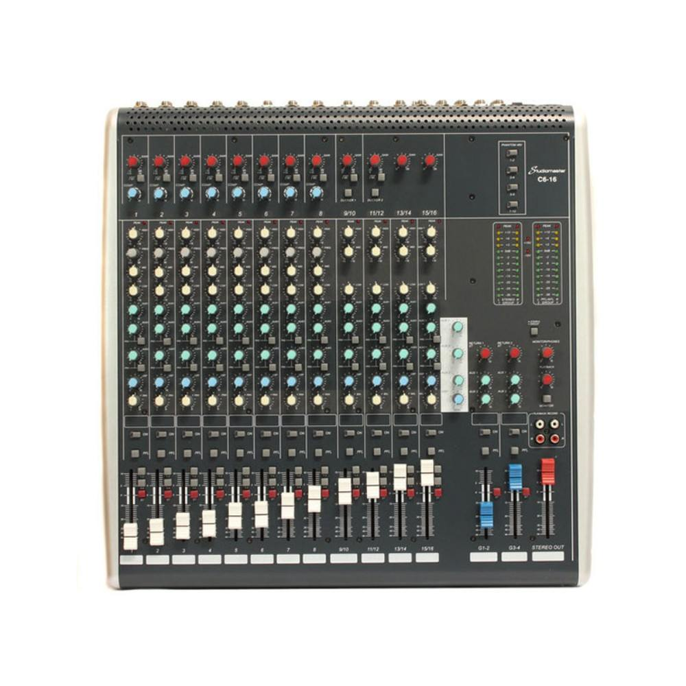 STUDIOMASTER C6-16 16 Channel compact mixing console ხმის სამართავი პულტი