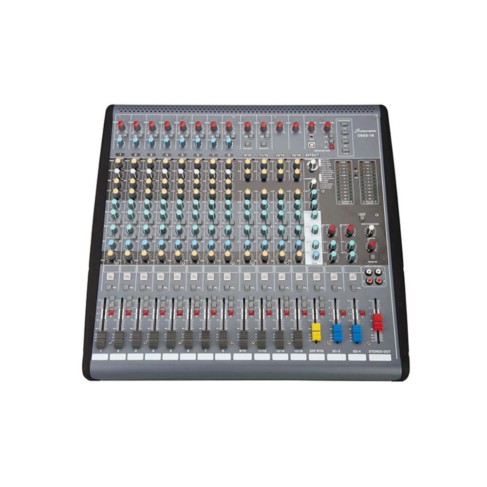 Studiomaster C6XS-16 - 16 Channel Compact Mixer With USB ხმის სამართავი პულტი
