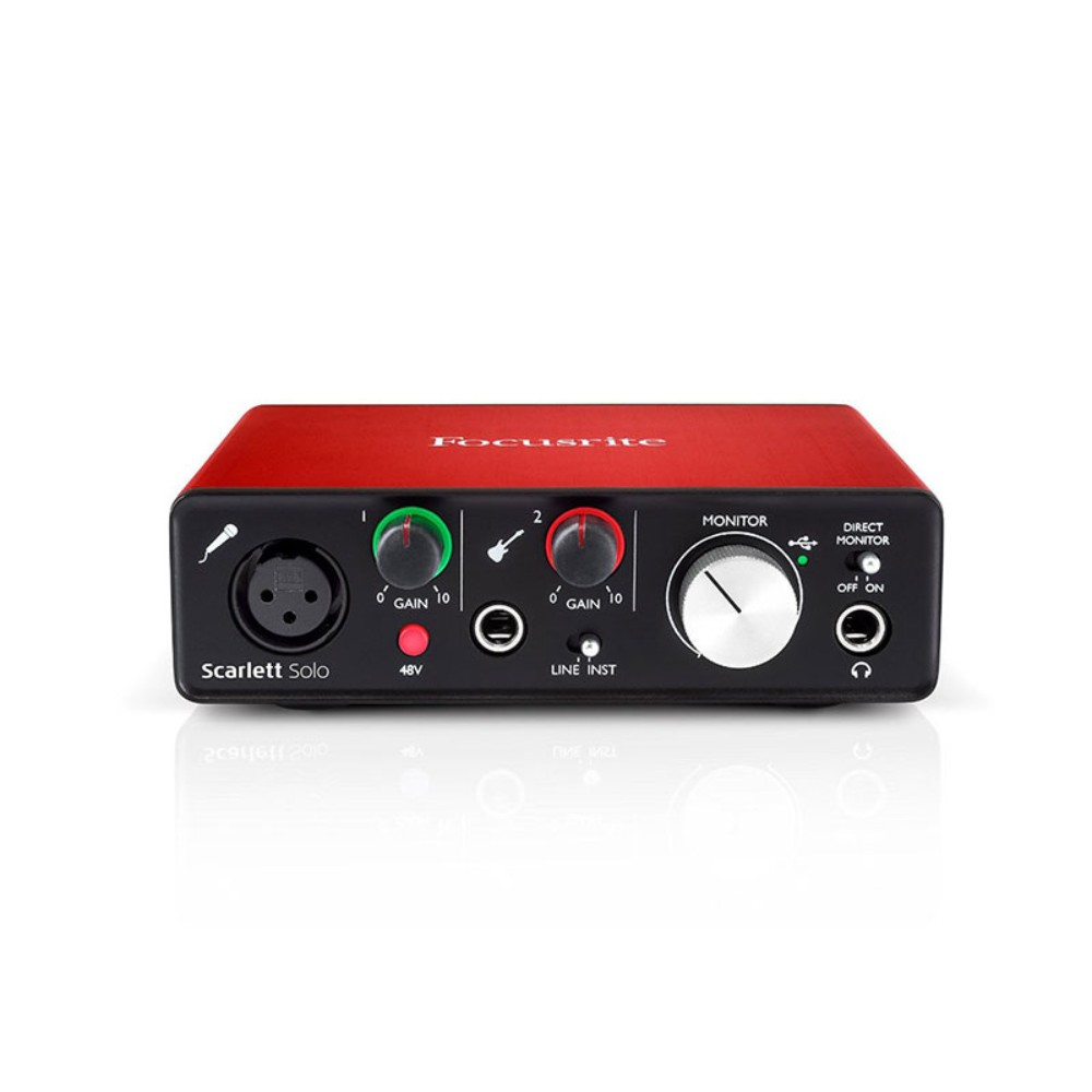 Focusrite Scarlett Solo (2nd Gen) USB Audio Interface with Pro Tools | First აუდიო ინტერფეისი